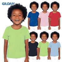 Gildan Heavy 100% Preshrunk Cotton Toddler Kids T-Shirt Boys Girls 2T-4T G510P