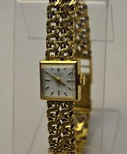 Vintage Ladies BUCHERER All Solid 18K Yellow Gold Manual Wind Watch 36g