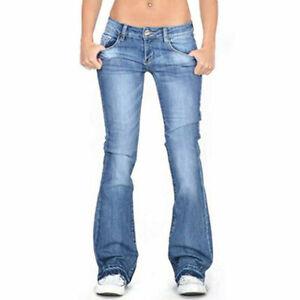 Damen Jeans Schlaghose  Schlagjeans Bootcut Hüftjeans Mid Taille Hüftjeans Hose