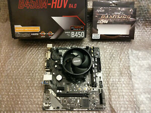 RYZEN 5 1400 4C/8T + ASROCK B450M-HDV R4.0 + 8GB DDR4 3200 CL 16 COMBO