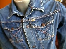 SMALL True Vtg 60s BIG YANK COPPER RIVET REDLINE SELVEDGE TRUE INDIGO JEAN JACKE