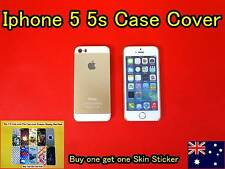 iPhone 5 5S Case Cover Protector Matte Hard Back Gold Free Skin Sticker (D01)