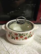 VINTAGE SHEFFIELD STRAWBERRIES n' CREAM Lidded Dish With Glass Lid