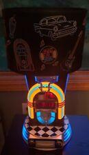 Kng America Retro Jukebox Lamp ~ Clock ~ Radio Ipod Dock Station Neon Beautiful