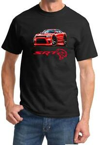 Charger SRT Hellcat Classic Red Muscle Car Design Tshirt NEW