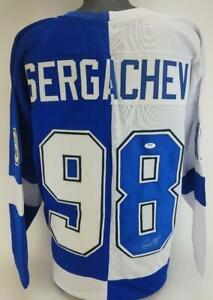 Mikhail Sergachev Signed Tampa Bay Lightning Custom Jersey PSA/DNA COA