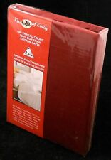 Red Super King Size Duvet Cover Set Luxury Egyptian Cotton Sateen 400Tc