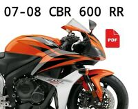 Factory PDF Official Workshop Service Manual for HONDA CBR 600 RR 2007-2008