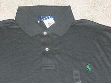 Men's Polo Ralph Lauren Avery Heather Long Sleeve Grey Polo Shirt Size 4XLT