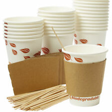 Compostable 12 Oz Paper Coffee Cups With Stirrers Amp Sleeves By Avant Grub