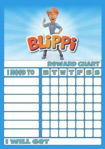 BLIPPI REWARD CHART free stars & pen 3 Sizes Magnetic option