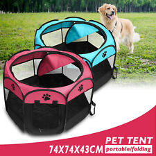 Pet Dog Cat Indoor/Outdoor Tent Playpen Portable Fold Garden Travel Fence Cage