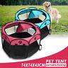 Indoor/Outdoor Pet Dog Cat Tent Playpen Portable Folding Garden Travel Cage Tent