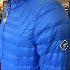 Puffa Puffer Uomo Boss Ultra Leggero BUBBLE giù giacca M 38/40 blu cappuccio nuovo con etichetta