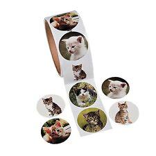 """Adorable Kitty Cat Stickers Kitten Kitties (Roll of 100) 1 1/2"""""""