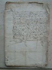 DOC MS XVII° : Vente terres prieuré SEPT-FONS entre gentilhommes du Poitou.