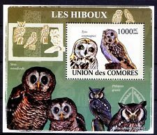 Red Owl (Tyto soumagnei), Birds of Prey, Comoros 2009 MNH Delux Sheet