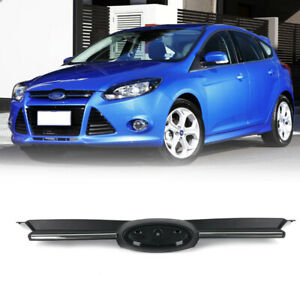 Fit 2012-2014 Ford Focus Front Black & Chrome Grille Upper Girll