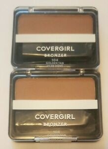 Lot of 2 CoverGirl Cheekers Bronzer #104 GOLDEN TAN Factory Sealed ~ Free Ship