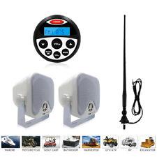 Marine Stereo System Waterproof Ip66 FM Am Radio 4 Inch Speakers Antenna