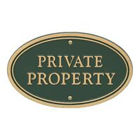 Private Property Statement Plaque w/lawn stake