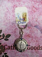 "3 5/8""  Silver Tone + Blue Enamel - Our Lady of Grace  -  Key Chain"
