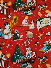 Timeless Treasures Fabrics, Inc. Retro Christmas Fabric Fq Pattern Merry-C 5105