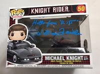 William Daniels SIGNED KITT Knight Rider Funko Pop #50 Vinyl Figure JSA COA Cert