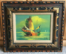 W.S Chiang Mid-Century Original Oil Painting - Signed And Framed. Beautiful!