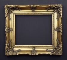 Bilderrahmen alt massiv Prunk Gold Holz Stuck Historismus Barock Stil Rahmen
