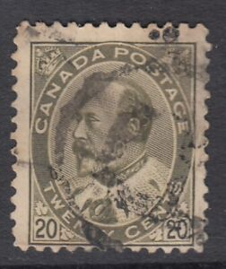 "Canada Scott #94 20 cent olive green ""King Edward VII""   HCV"