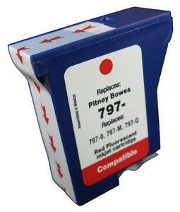 Pitney Bowes Compatible Red Ink Cartridge For K700 DM50 DM55 Franking Machines
