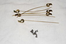 BRASS CLICKS WITH WIRE 3 PAIRS NEW CLOCK PARTS