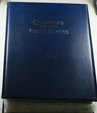 Complete 50 State Quarter Set P&D w/100 Coins &200 Stamps in Presentation Binder