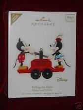 Limited Quantity Ornament Hallmark 2008 Riding the Rails Mickey Minnie Mouse