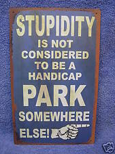 Funny Parking Sign Car Tin Metal Advertising Sign Automobile  Funny