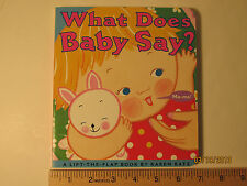 What Does Baby Say? by Karen Katz (2004,  Board Book) GET FREE SHIPPING
