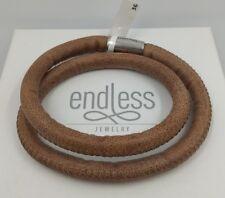 ENDLESS JEWELRY. Bracelet 2 turns. 36 cm. 50% off. Marrón