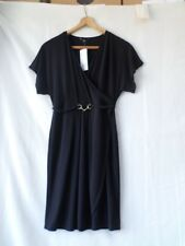 F&F Women Black Wrap Over Cocktail Dress Size 12/40
