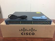 Cisco WS-C3560G-48PS-S 48 Port 10/100/1000 PoE Gigabit Switch -samedayshipping-