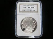 2001 P AMERICAN BUFFALO S$1  PF69 Ultra Cameo  Commemorative Silver Dollar