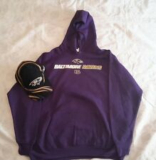 Baltimore Ravens Hoodie Size XL and Cap