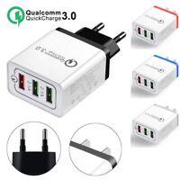 30W 3 Port Fast Quick Charge QC 3.0 USB Hub Wall Charger Adapter EU US Plug HOT!