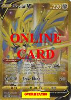 Zacian V Secret Rare Sword & Shield Pokémon TCG Online PTCGO ONLINE CARD FAST!