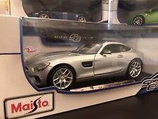 *SALE* Maisto 1:18 Special Edition Diecast Model Car - Mercedes AMG GT (Silver)