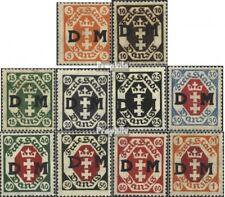 Danzig D1-D9,D11 Favor devaluatie gestempeld 1921 Officiële stempels