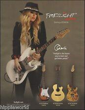 Orianthi Panagaris Fretlight Electric & Acoustic Guitars ad 8 x 11 advertisement