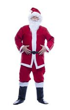 COSTUME BABBO NATALE ADULTO TG. UNICA Santa Claus Vestito Papà Noel NO2239