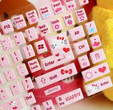 1PACK Kawaii Hello KITTY DIY Sticker , Computer & Laptop Keyboard Paster Sticker
