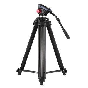 Andoer 170cm Professional Video Camera Tripod w/ Fluid Head Quick Release Plate
